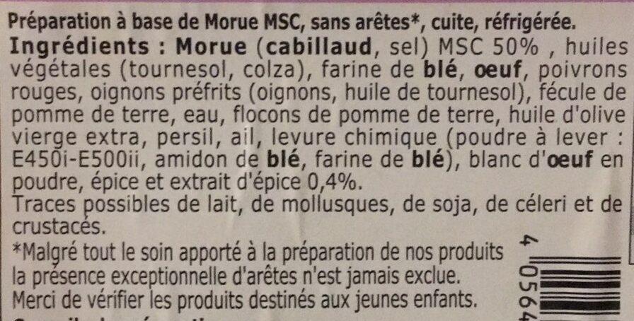 """Accras de morue - Recette """"Creole"""" - Ingrédients - fr"""