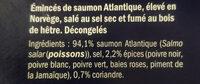 Émincés de saumon fumé 5 Baies - Ingrédients - fr