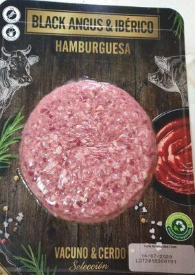 Hamburguesa black angus y cerdo iberico - Producte - es