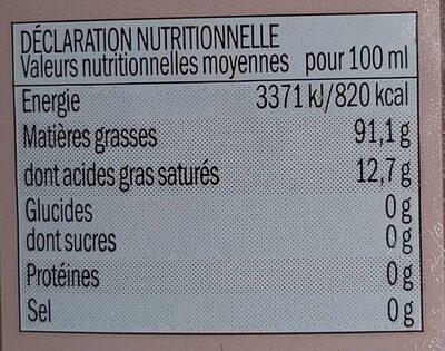 Huile d'olive vierges extra - Valori nutrizionali - fr