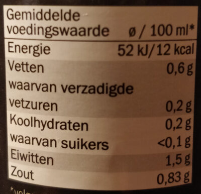 kippen bouillon - Voedingswaarden - nl