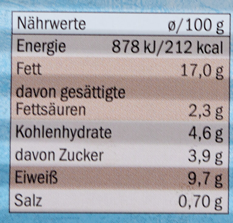 Heringsfilets in Tomatencreme - Nutrition facts - de