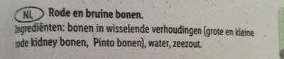 Rode & Bruine bonen - Ingredients - nl