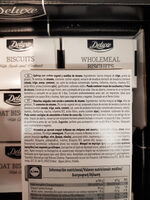 Wholemeal Biscuits - Ingredients