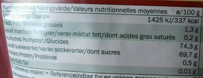Canneberges sucrées séchées - Informations nutritionnelles - fr