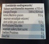 Olio extra vergine - Voedingswaarden - fr