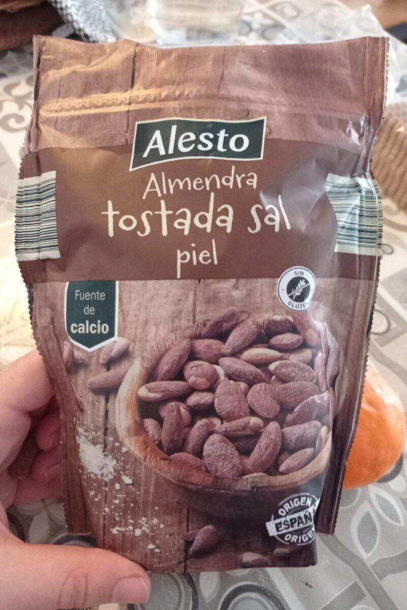 Almendra tostada sal piel - Produit - es