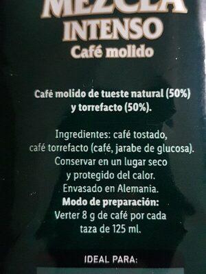 Mezcla Intenso - Ingrédients - es
