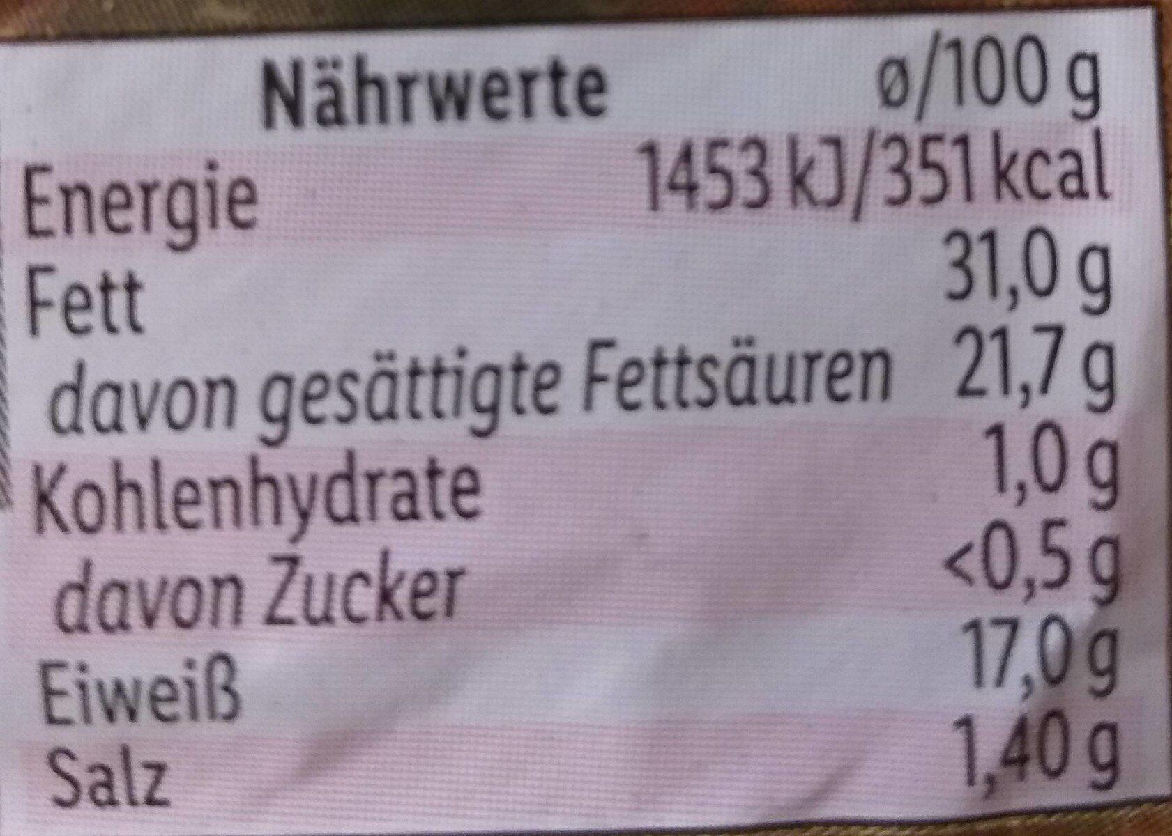 Le Brie - Nährwertangaben - de