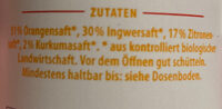 Bio Ingwer-Kurkuma-Shot - Ingredients - en