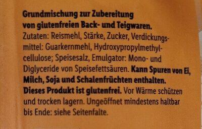 Baking Mix gluten free - Zutaten - de