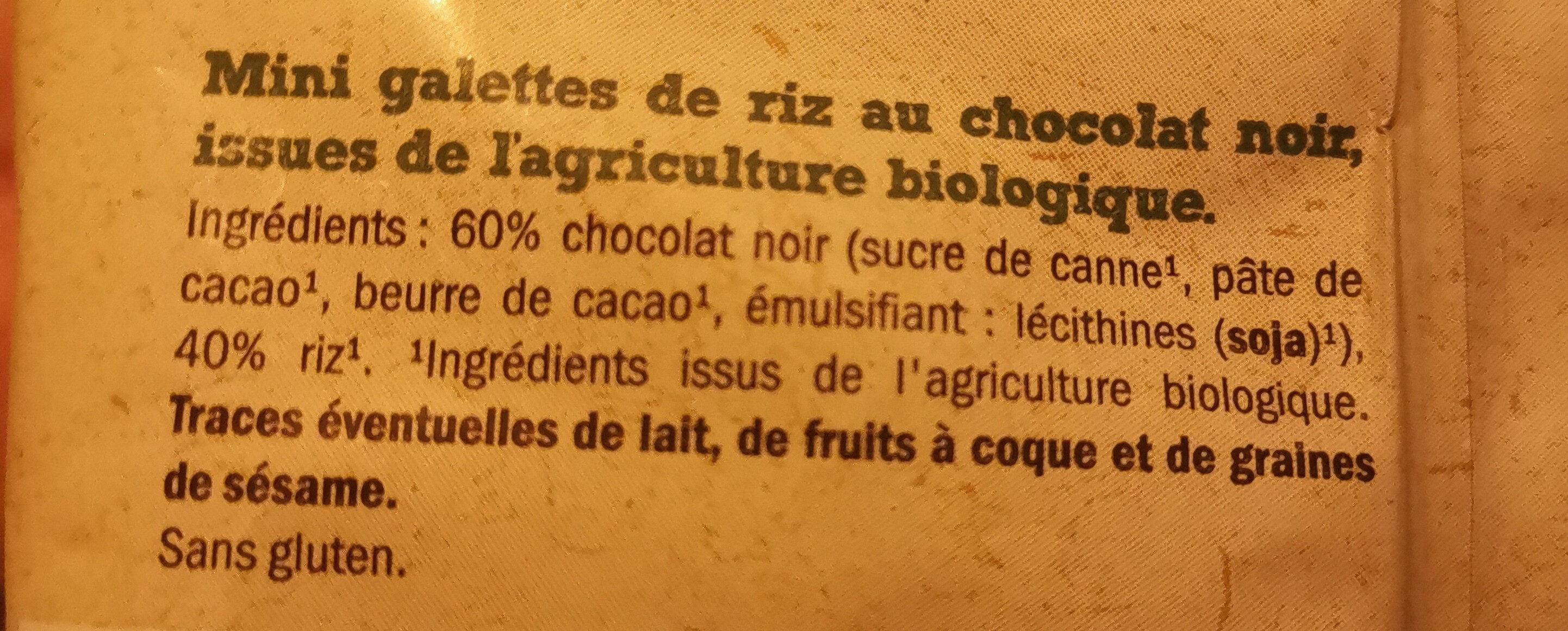 MINI GALETTES DE RIZ CHOCOLAT NOIR - Ingredienti - fr