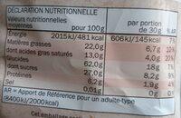 MINI GALETTES DE RIZ CHOCOLAT NOIR - Valori nutrizionali - fr