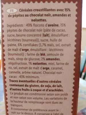 Muesli chocolat noir - Ingredienti - fr