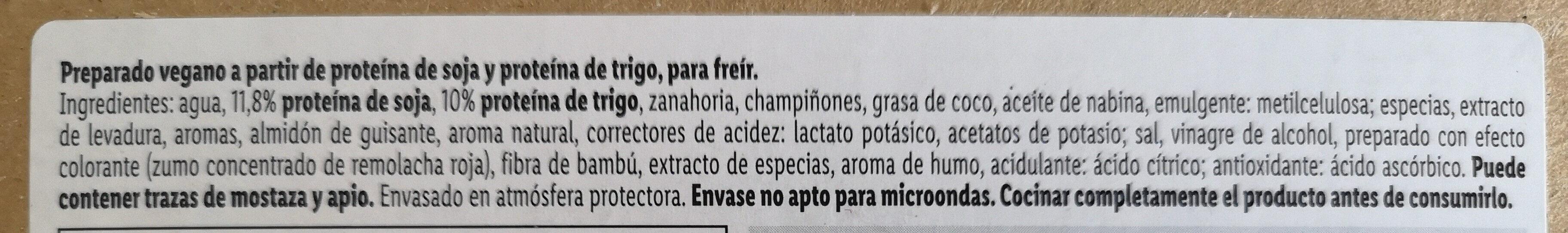 Picada vegana - Ingredienti - es