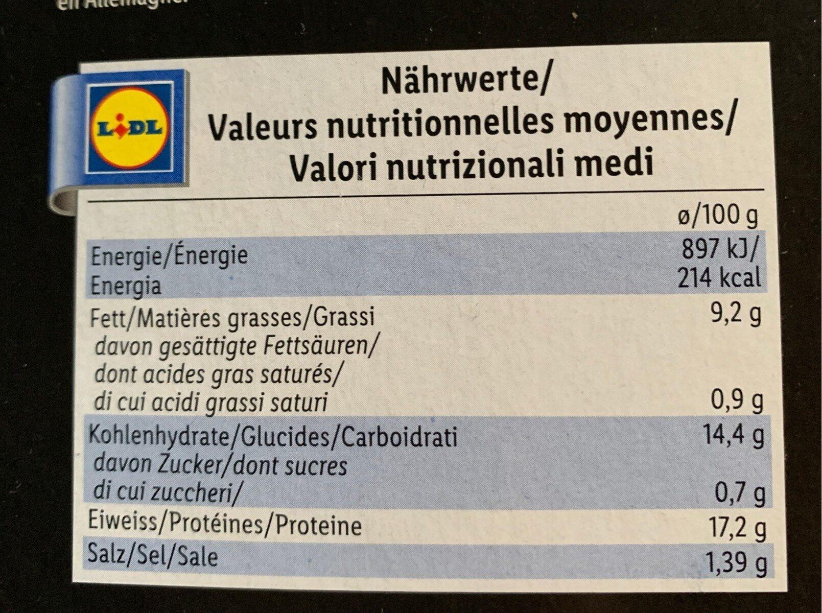 Chicken Escalopes - Nährwertangaben - fr