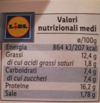 Filetto filetto di salmone norvegese - Informations nutritionnelles - it
