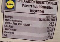 Brioche vendeenne tranchee - Valori nutrizionali - fr
