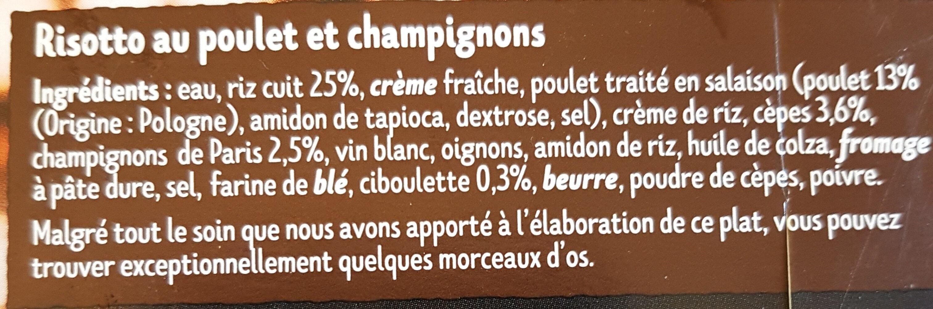 Risotto au Poulet & aux cèpes - Ingrédients - fr
