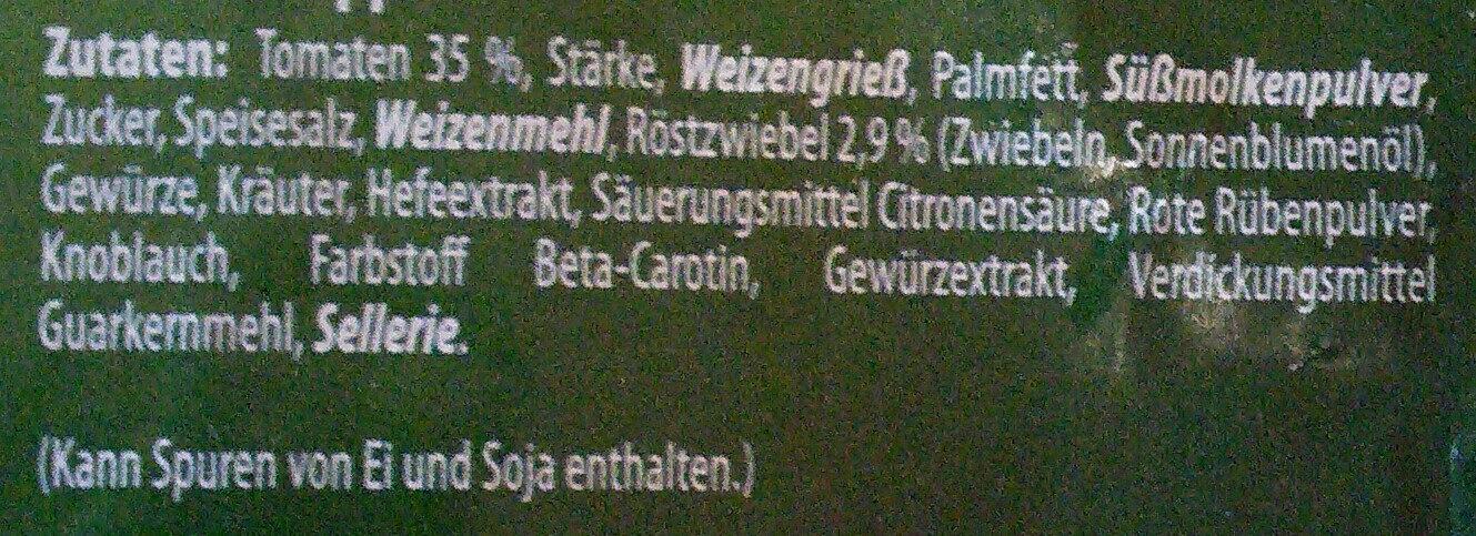 Tomaten suppe - Ingredienti - de