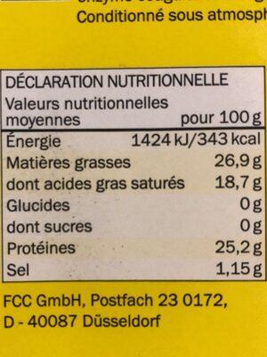 Maasdam - Voedingswaarden - fr