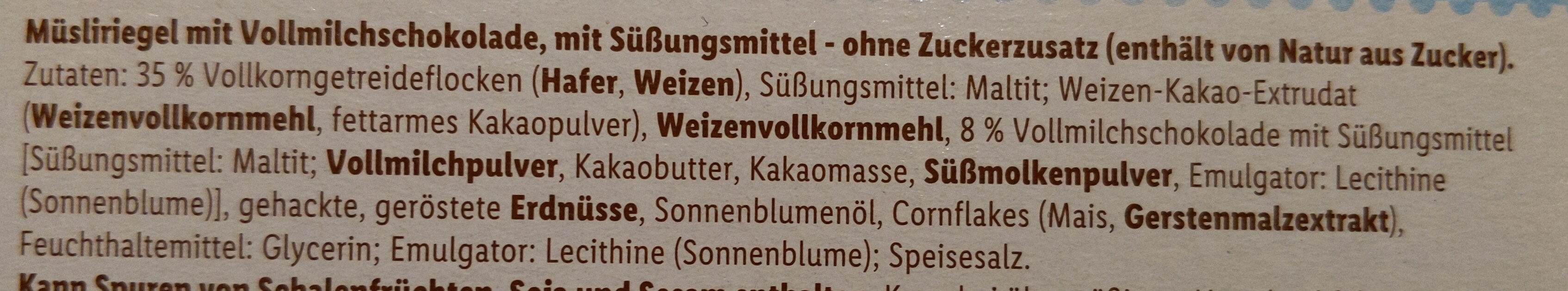 Müsliriegel Schokolade - Ingredienti - de