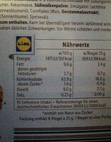 Müsliriegel Schokolade - Valori nutrizionali - de