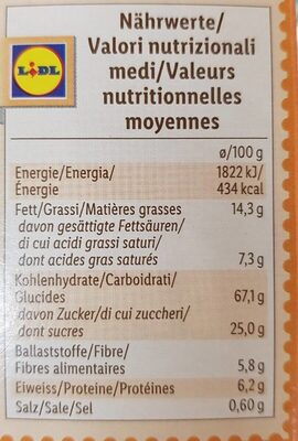 Crunchy muesli - Nutrition facts - fr