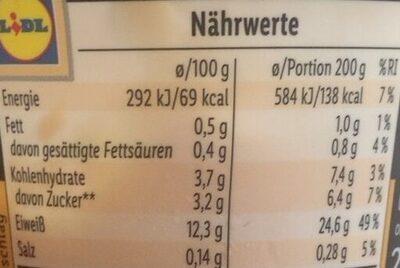 High protein Pfirsich-Maracuja Quark-Creme - Voedingswaarden - de