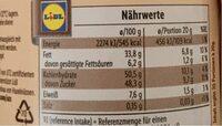 Nuss-Nougat-Creme - Nutrition facts - en