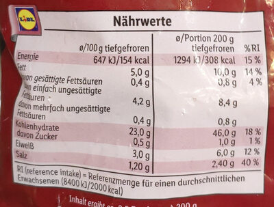 Steakhouse Fries - Nutrition facts - de