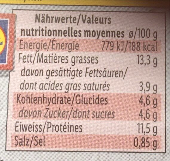 Herring fillets - Valori nutrizionali - fr