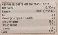 vegane nuggets «classic» - Nährwertangaben - fr