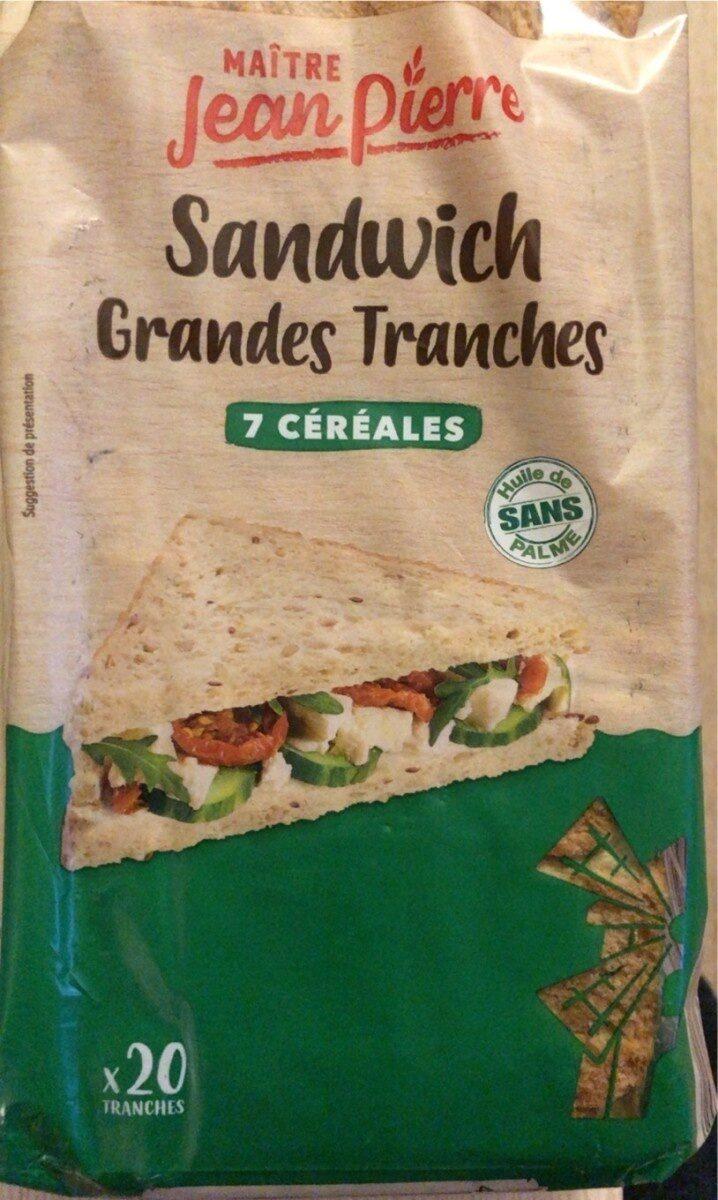 Sandwich grandes tranches 7 cereales - Produit - fr