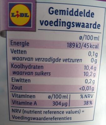 Ice cold multifruit - Voedingswaarden
