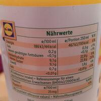 Orange direkt gepresst - Nutrition facts - de
