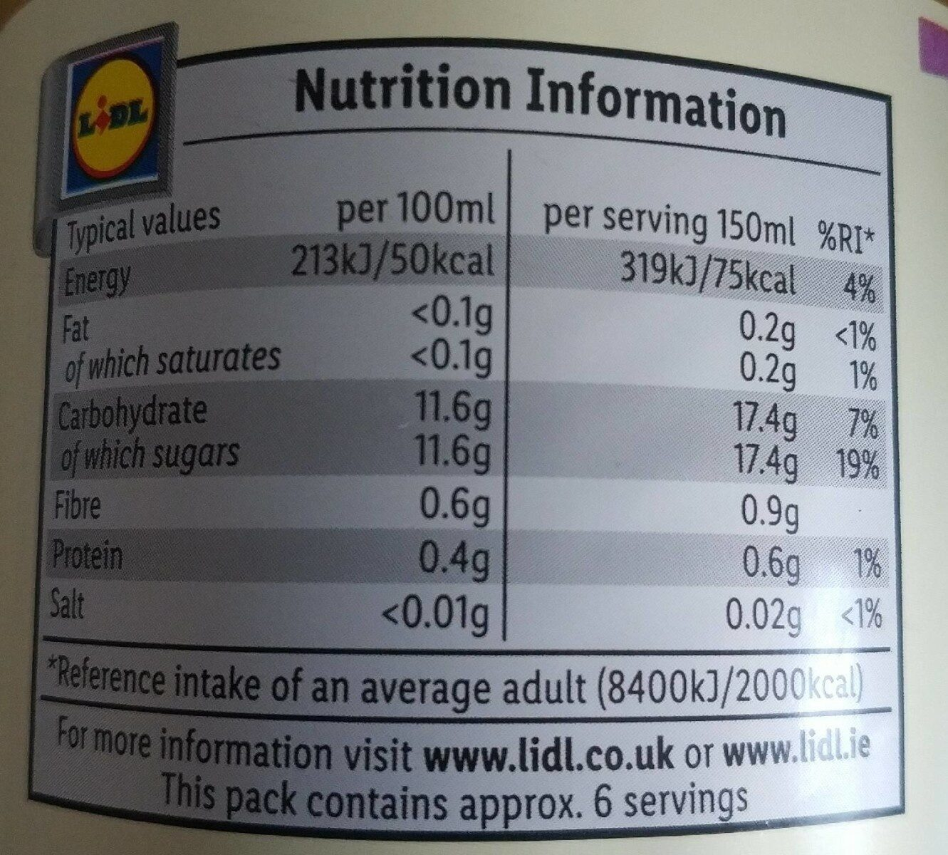Sweet Chilli Sauce - Nutrition facts - fr