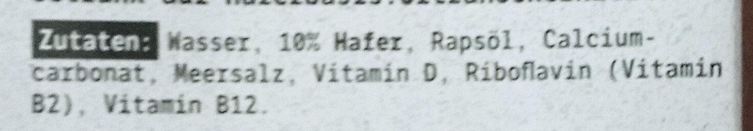Hafer Barista Edition - Ingredienti - de