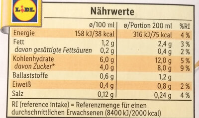 Bio Hafer - Nährwertangaben - de