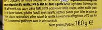 Fromage frais vanille - Ingrédients - fr