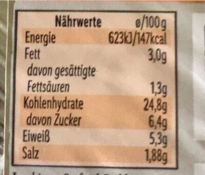 Sushi - Informations nutritionnelles - de