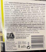 Vasito chocolate limon - Nutrition facts - es
