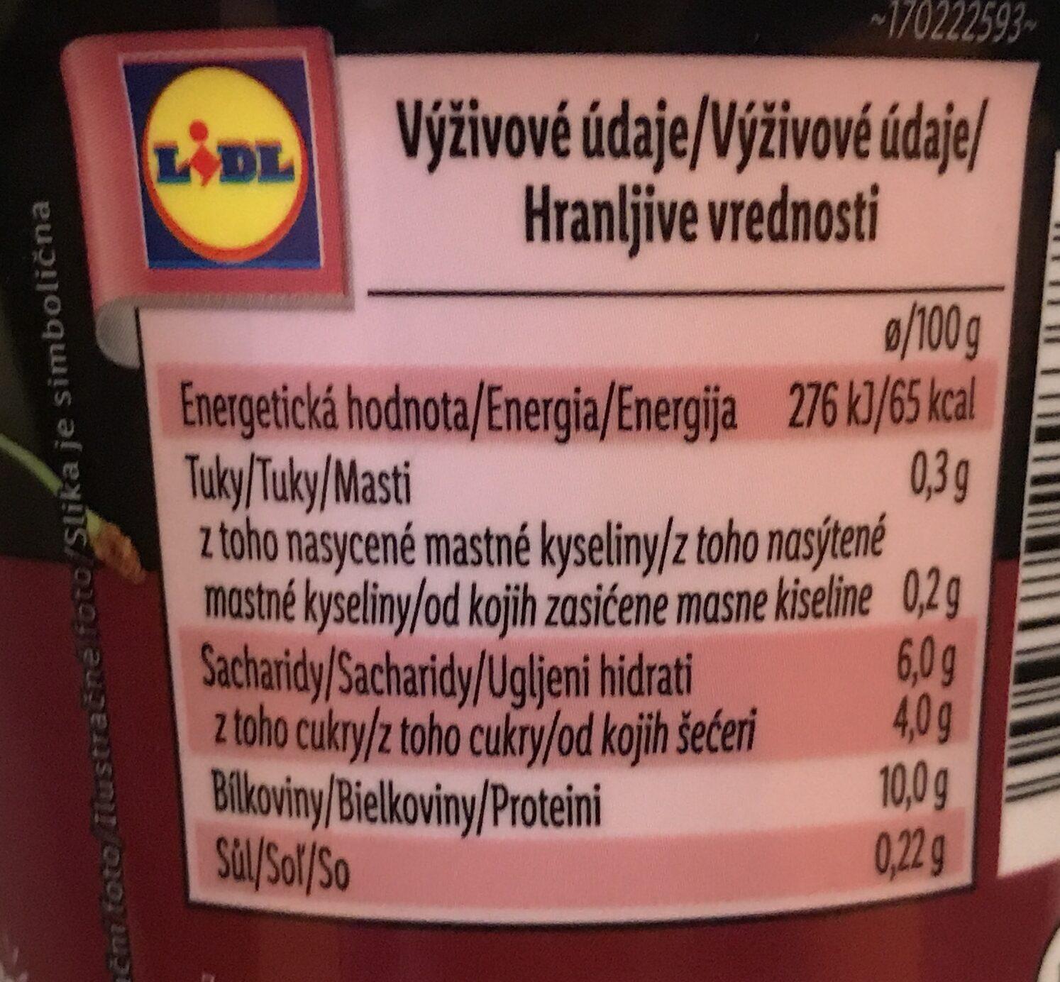 High protein jogurt višně a aronie - Valori nutrizionali - cs