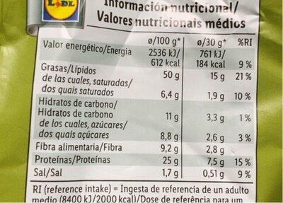 Pistacho tostado y salado con sal - Informations nutritionnelles - es
