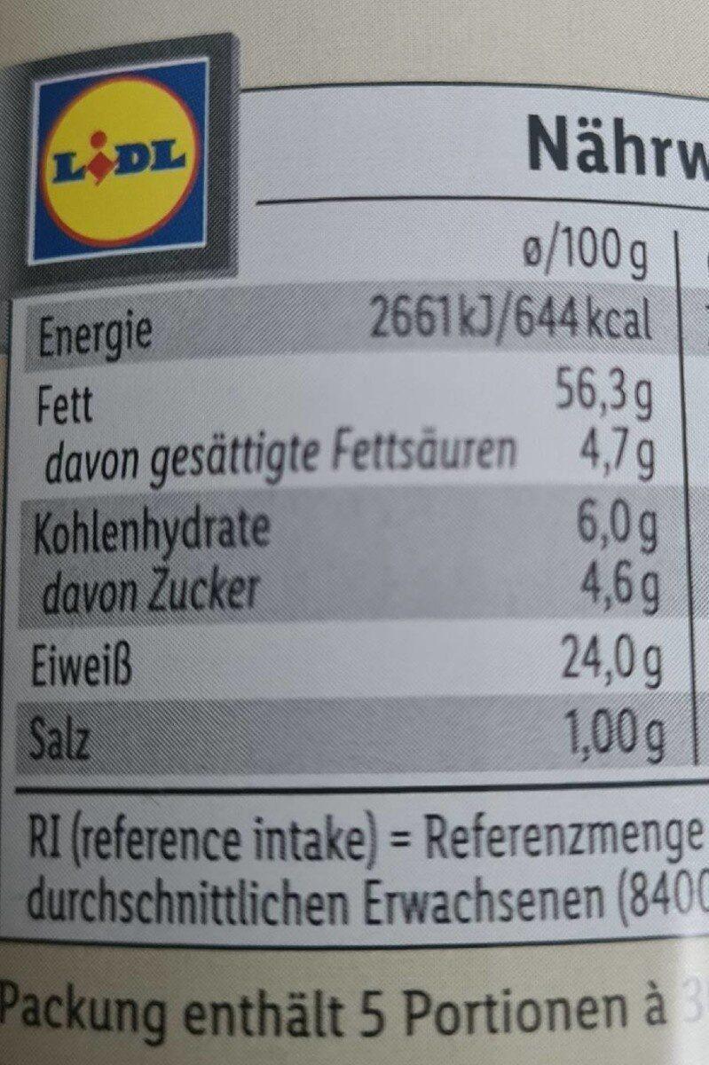 Mandeln Meersalz - Informations nutritionnelles - en