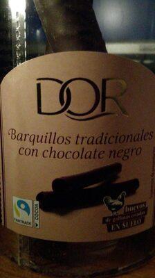 Barquillos tradicionales con chocolate negro - Product