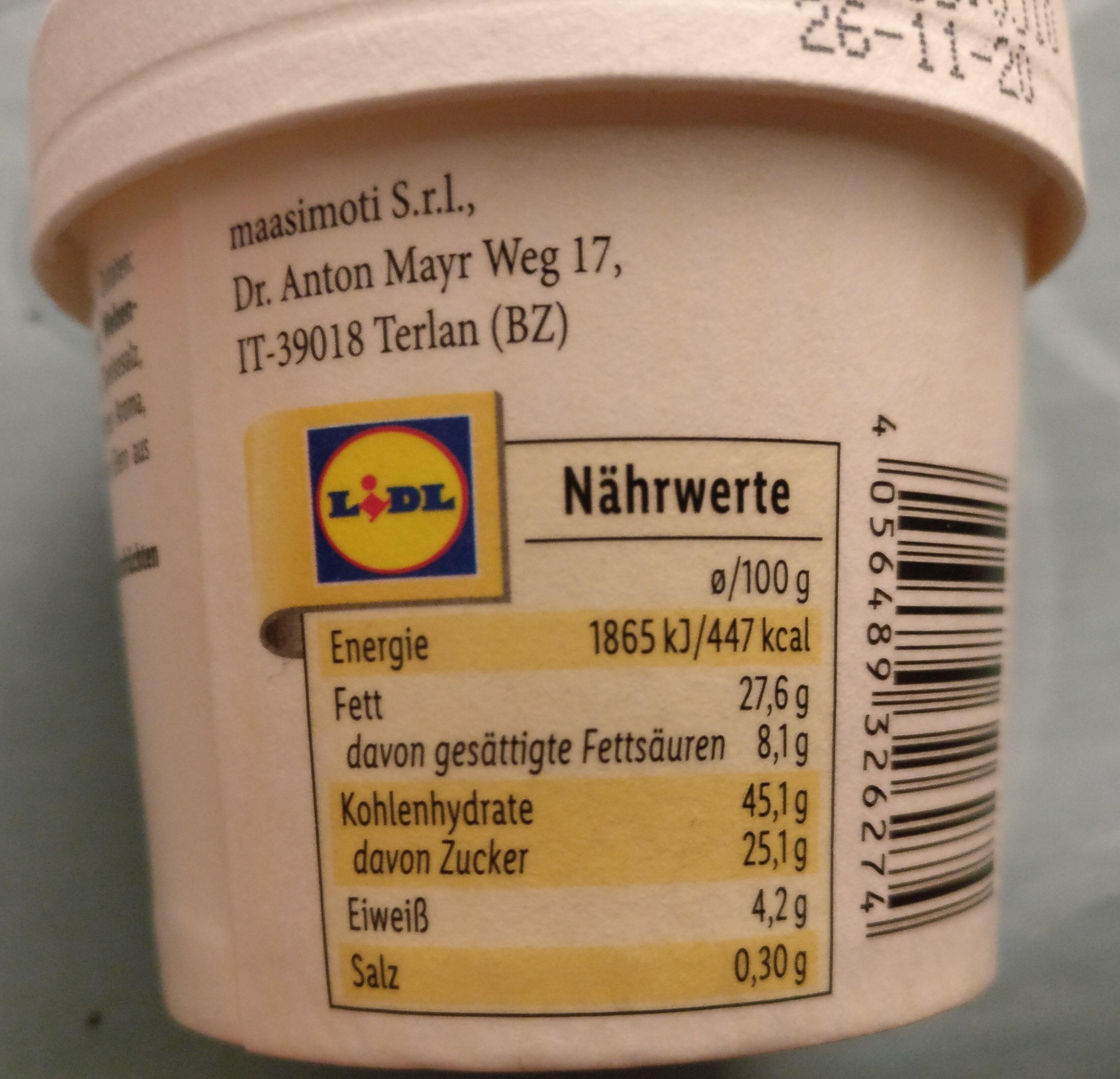 Cookie Dough Vanillegeschmack - Informations nutritionnelles - de