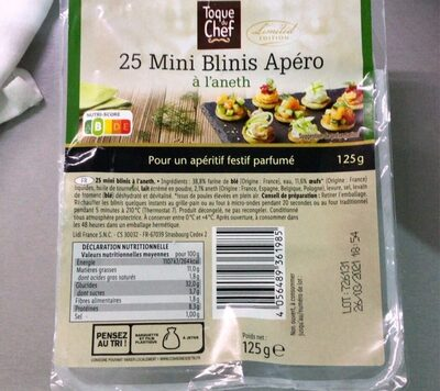 Mini Blinis Apero - Produit
