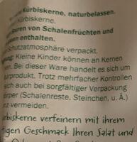 Steirische Kürbiskerne naturbelassen - Ingredienti - de