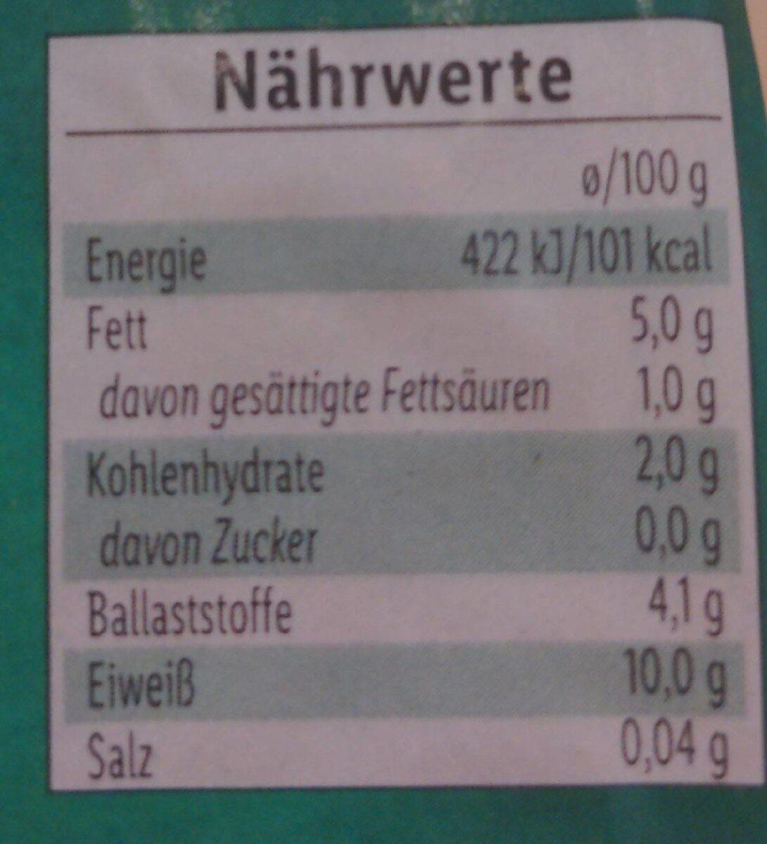 Tofu Natur - Valori nutrizionali - de